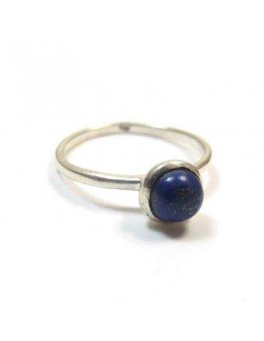 Bague argent fine et lapis lazuli T59