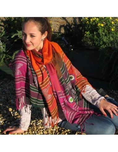 Etole brodée colorée - Mosaik bijoux indiens