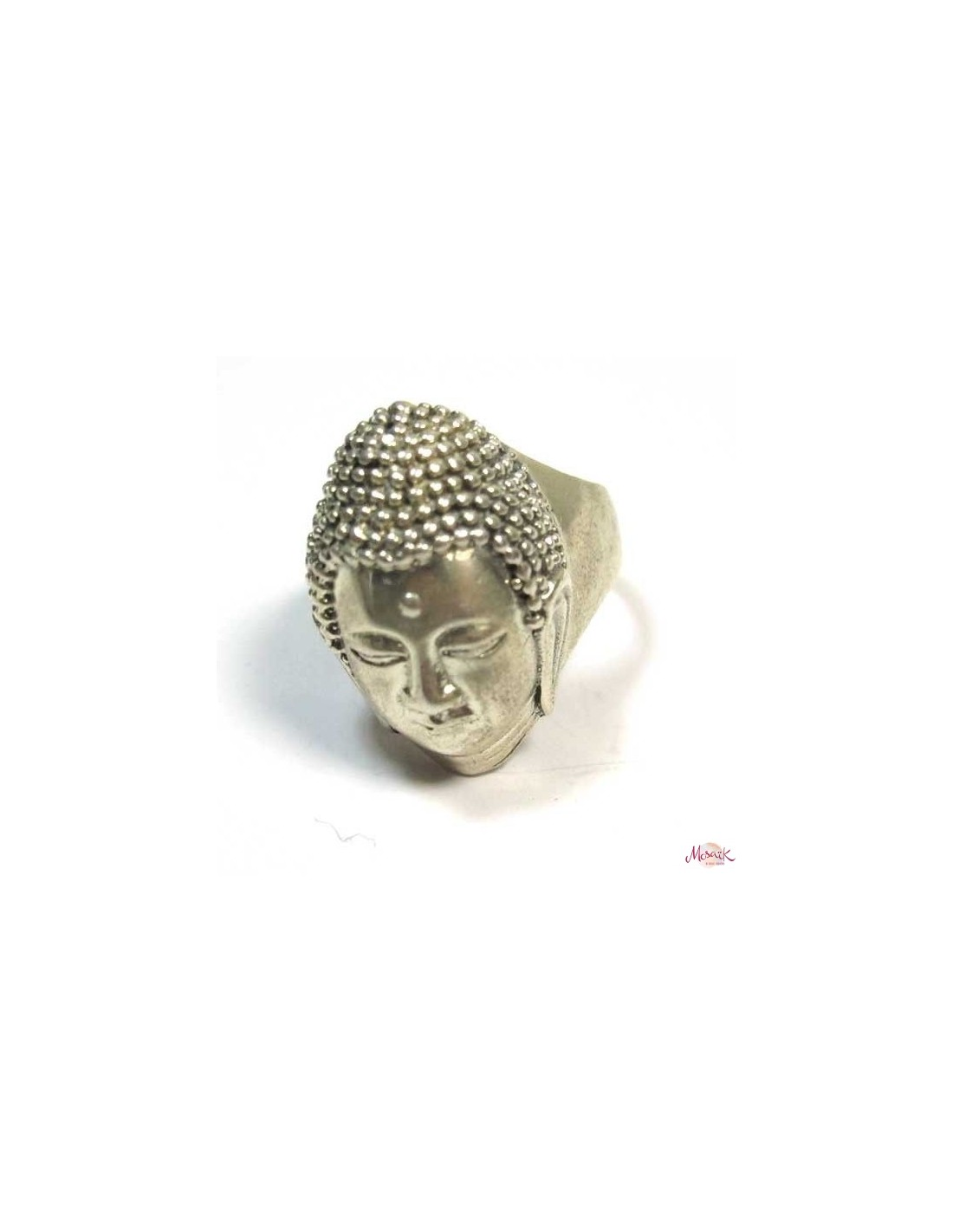 grosse bague argent t te de bouddha bijoux indiens spirituels ba62. Black Bedroom Furniture Sets. Home Design Ideas