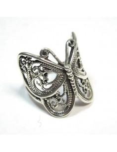 bague argent papillon