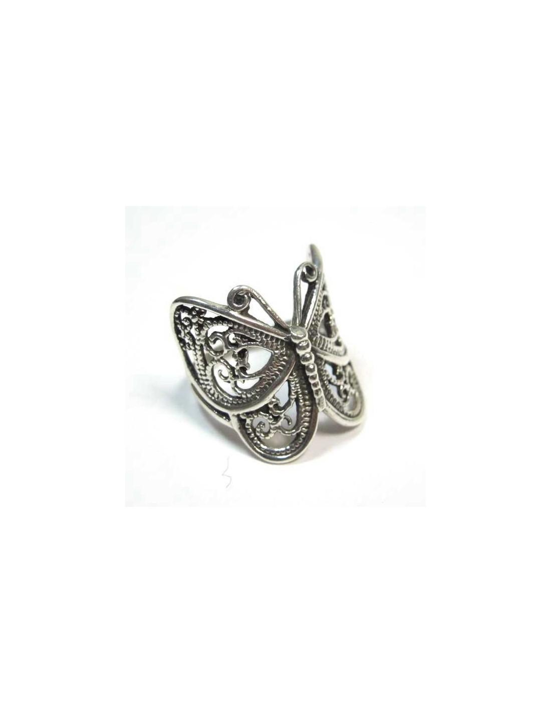 bague en argent papillon vente de bijoux forme de papillon ba64. Black Bedroom Furniture Sets. Home Design Ideas