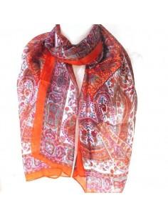Foulard rouge marron