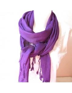 Echarpe unie violette