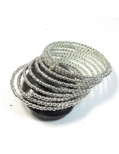 bracelet argenté spirale