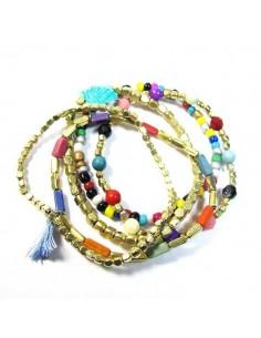 lot de 5 bracelets fins en perles