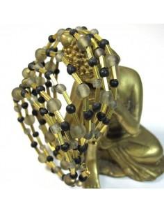 bracelet spirale noir, gris et doré