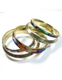 lot de 5 bracelets dorés et colorés