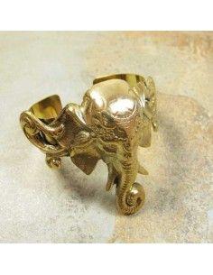 gros bracelet laiton éléphant
