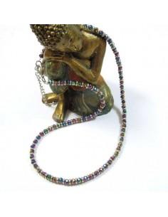 collier courtà irisées