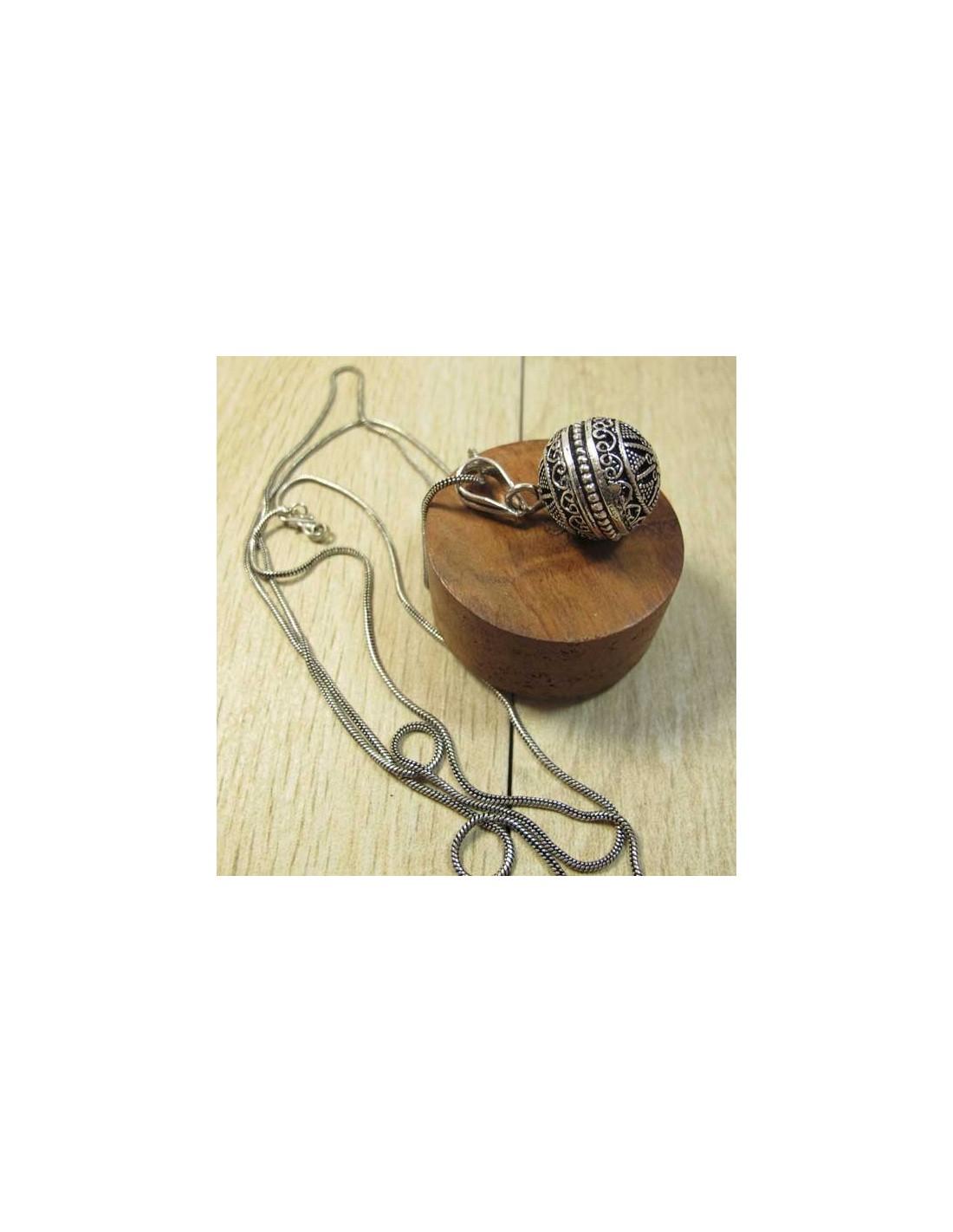 pendentif bola argent bijoux bola pour femmes enceinte cf119. Black Bedroom Furniture Sets. Home Design Ideas