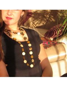 long collier en corne