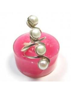bagurgent allongée et 4 perles