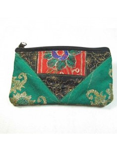 pochette rectangle brodée