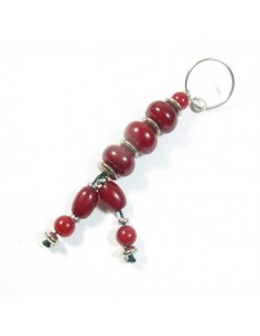 porte-clé en perles rouges