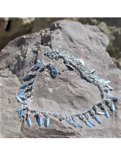 Bracelet de cheville petite plume