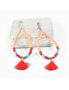 Boucles d'oreilles perles rose pale