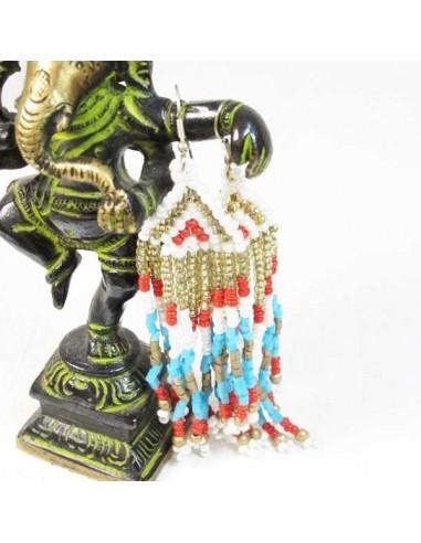 Boucles d'oreilles ethniques à perles