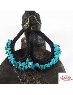 Boucles d'oreilles perles turquoises