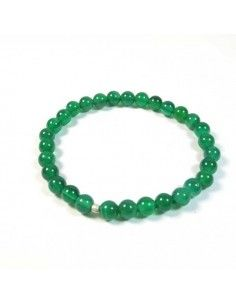 bracelet pierres rondes agate verte 4mm