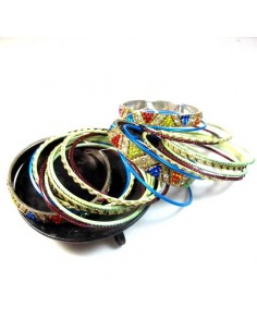lot de 20 bracelets colorés