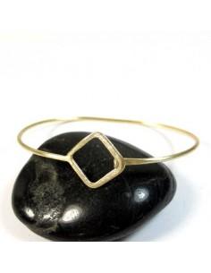 Bracelet fin doré mat