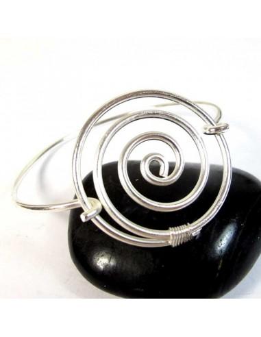 Bracelet spirale métal argenté