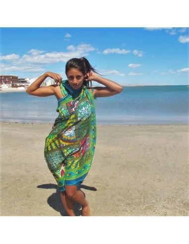 Foulard de plage coloré