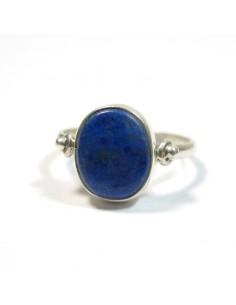 Bague argent et lapis lazuli T54