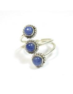 Bague argent et lapis lazuli T60