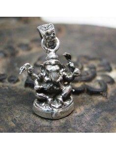 pendentif argent statuette Ganesh