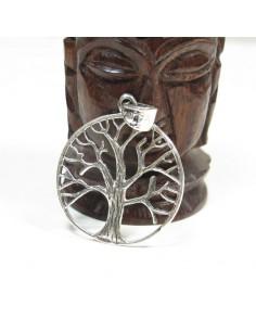Pendentif en argent et arbre de vie