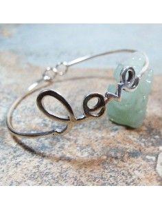 Bracelet Love en argent - Mosaik  bijoux indiens