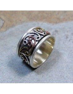 anneau 3 métaux à volutes