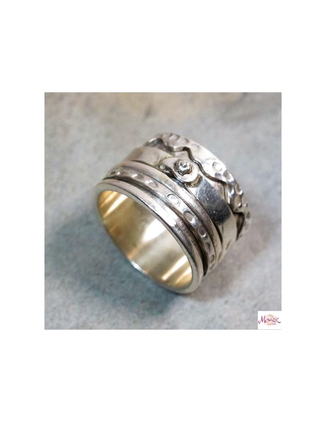 anneau en argent large anti stress boutique de bijoux argent ba84. Black Bedroom Furniture Sets. Home Design Ideas