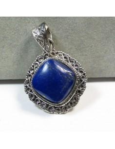 Pendentif argent et lapis lazuli