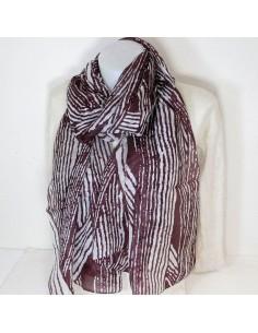 Foulard en soie zébré