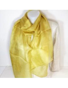 Foulard en soie jaune or