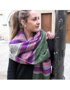 Tole et grande charpe indienne vente de foulards charpes et toles de qualit boutique - Grosse echarpe plaid ...
