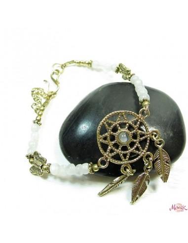 Bracelet attrape reve et pierres de lune
