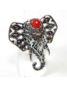 Bague fantaisie tête d'éléphant réglable