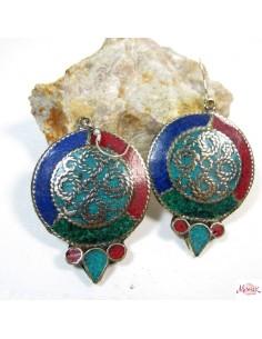 Boucles d'oreilles tibétaines