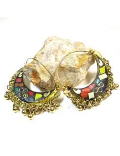 Créoles tibétaines - Mosaik bijoux indiens