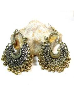 Boucles d'oreilles dorées à grelots
