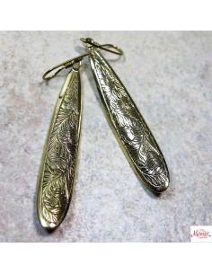 Boucles d'oreilles longues en laiton