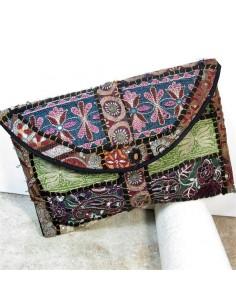Pochette indienne avec broderies colorées -  Mosaik bijoux indiens