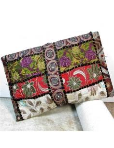 Pochette indienne avec broderies colorées -  Mosaik bijoux indiens 2