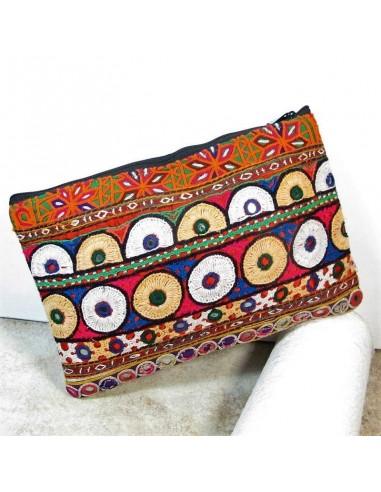 Pochette ethnique colorée -  Mosaik bijoux indiens