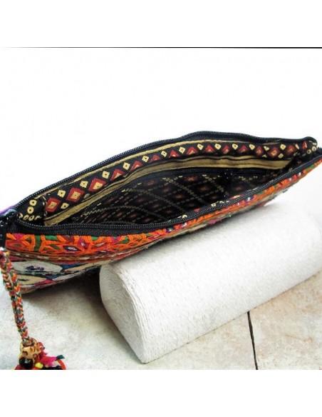 Pochette tissu coloré -  Mosaik bijoux indiens