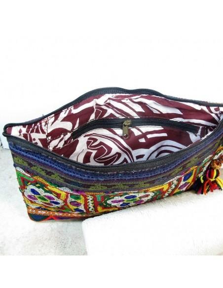 Pochette en tissu brodée -  Mosaik bijoux indiens