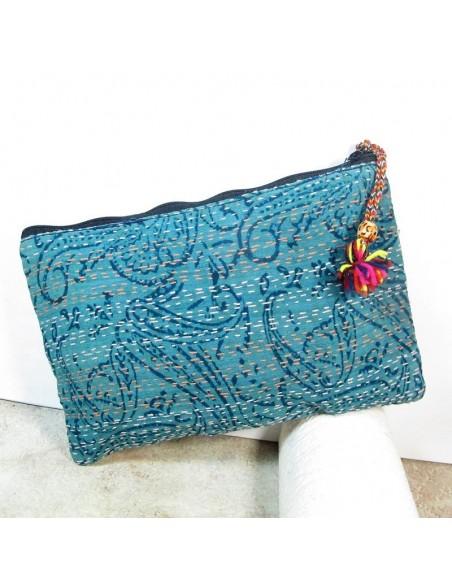 Pochette tissu à motifs